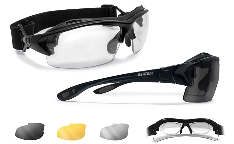 Lunettes de vue pour casque de moto